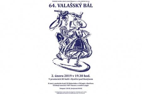 64. Valašský bál 2. února 2019